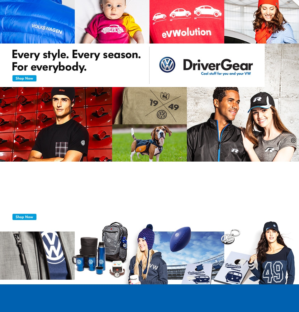 Every style. Every season. For everybody. | Volkswagen DriverGear | Cool stuff for you and your VW.